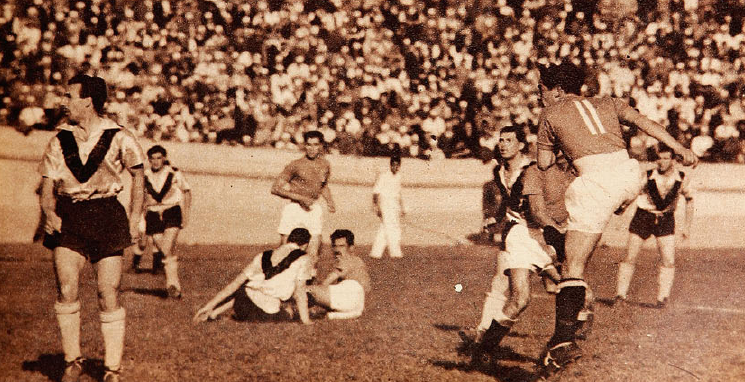 Colo-Colo frente a Santiago Morning en 1951